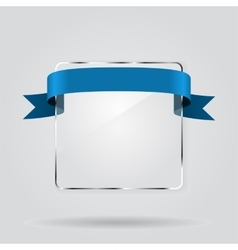Glass framework with ribbon vector image