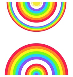 Greeting Card with a Set of Rainbows and the Sun vector image vector image