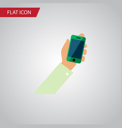 isolated cellphone flat icon keep phone vector image