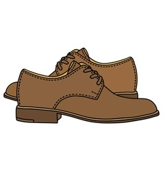 Leather low shoes vector image