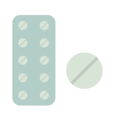 Medicine in tablet package on vector image vector image