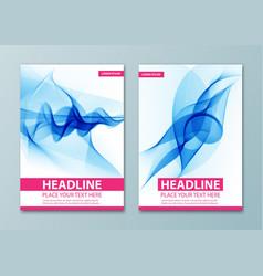 Modern abstract brochure report or flyer design vector