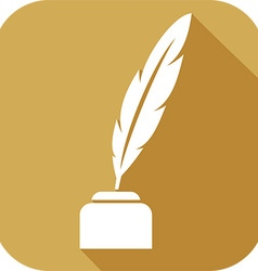 Quill Icon vector image vector image