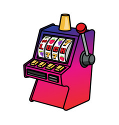 Slot machine isolated on white vector