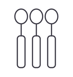 spoon line icon sign on vector image