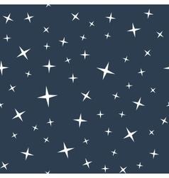 Starry night sky seamless pattern vector