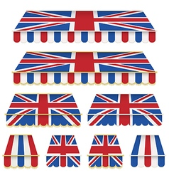 uk awning decorations vector image vector image