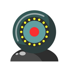 Webcam round realistic colorful device isolated on vector