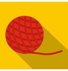 Yarn ball toy for cat icon flat style vector