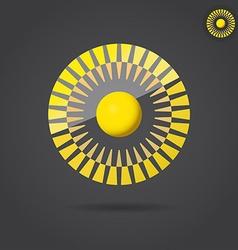 Abstract golden circle vector image