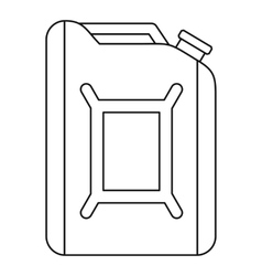 Flask for gasoline icon outline style vector