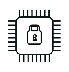 safe padlock security isolated icon vector image