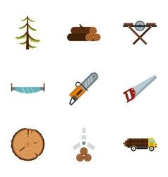 Cleaver icons set flat style vector