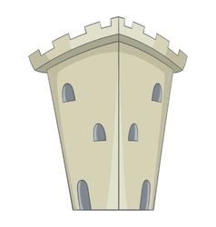 Medieval ancient fortress icon cartoon style vector