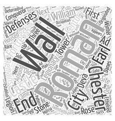 Chester Castle Word Cloud Concept vector image