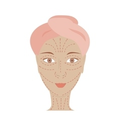 Poster of facial technique massage vector