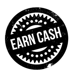 Earn cash rubber stamp vector
