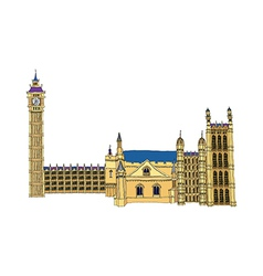 The houses of parliament vector