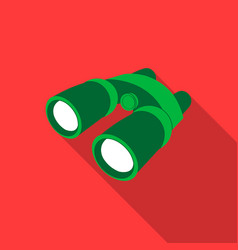 Binoculars icon of for web and vector