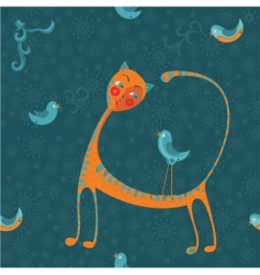 Cat background vector