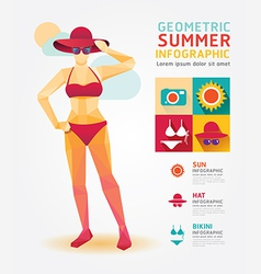 Summer infographic geometric concept design colour vector