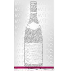 Wine bottle poster vector