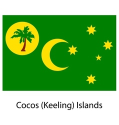 Flag of the country cocos islands vector
