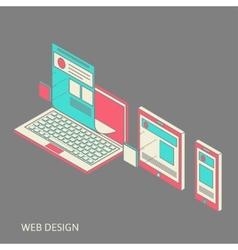 mobile and desktop website design development vector image