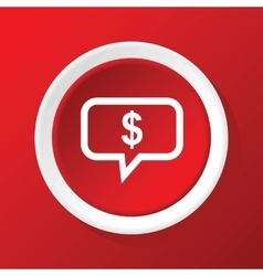 Financial message icon on red vector