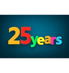 Twenty five years paper sign vector
