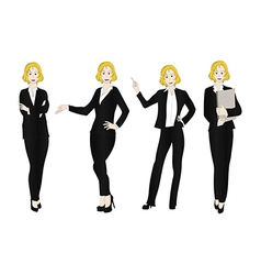 Business woman color full body blonde vector