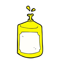 Comic cartoon squirting bottle vector