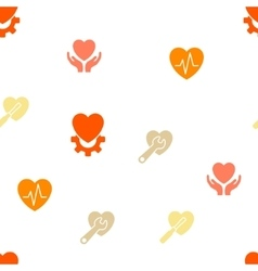Cardiology seamless flat pattern vector