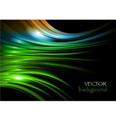 rainbow background new shape black green vector image