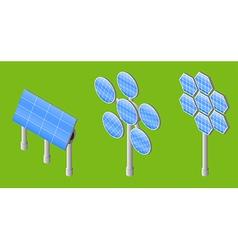 three solar panels vector image