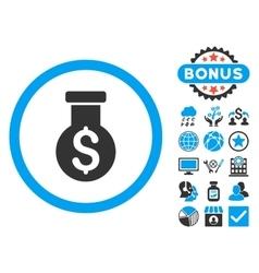 Alchemy flat icon with bonus vector