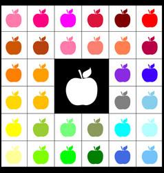 Apple sign felt-pen 33 vector
