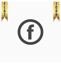 basic font for letter F vector image