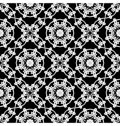 Black ornamental seamless line pattern vector