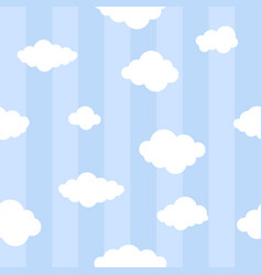 Blue lines with clouds seamless background vector
