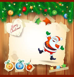 christmas background with copy space and happy vector image vector image