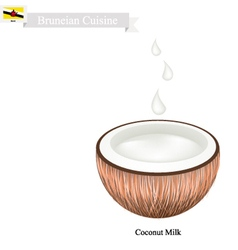 Coconut milk a famous beverage in brunei vector