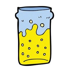 Comic cartoon pint of beer vector