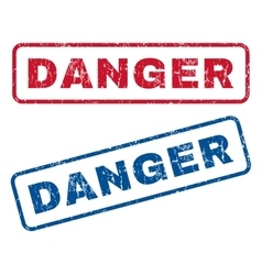 Danger Rubber Stamps vector image vector image