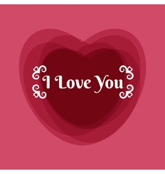 Happy Valentines greeting card template vector image vector image