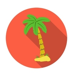 Palm tree icon in flat style isolated on white vector
