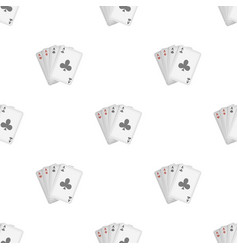 playing plastic cards for playing poker in the vector image vector image