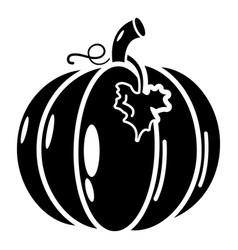 pumpkin icon simple black style vector image