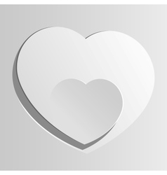 Realistic two Heart cut out of paper Valentines vector image vector image
