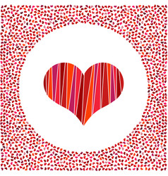 red heart and little hearts around vector image vector image